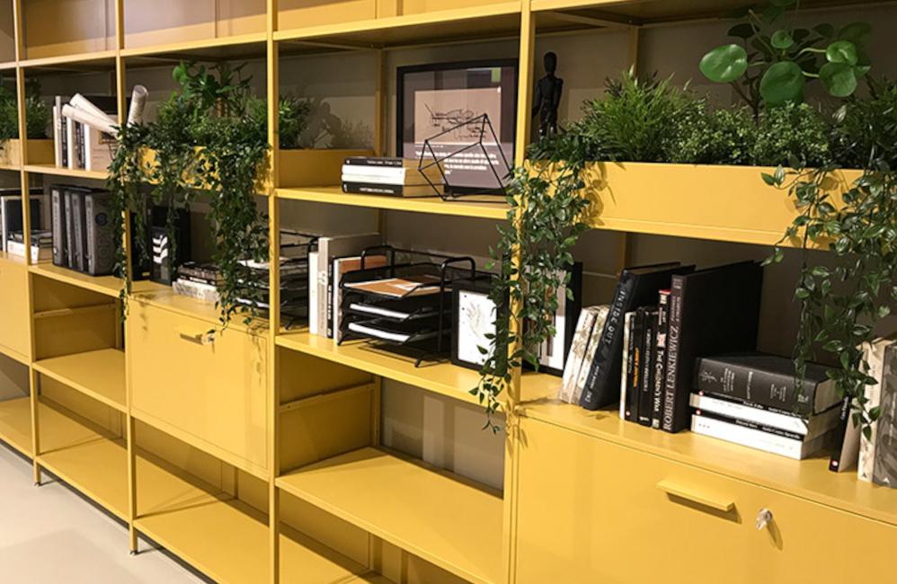 HOLI.E Concept - Aménagement espace de travail - Bibliotheque jardiniere bureau armoire