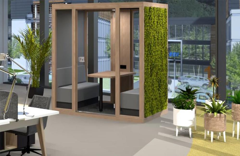 HOLI.E Concept - Aménagement espace de travail - Cabine de réunion cube