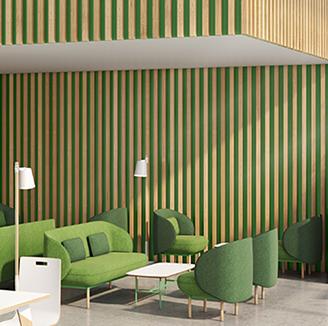 HOLI.E Concept - Aménagement espace de travail - Canapé de réunion