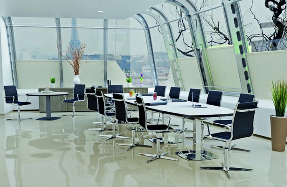 HOLI.E Concept - Aménagement espace de travail - Espace de réunion acier et noir