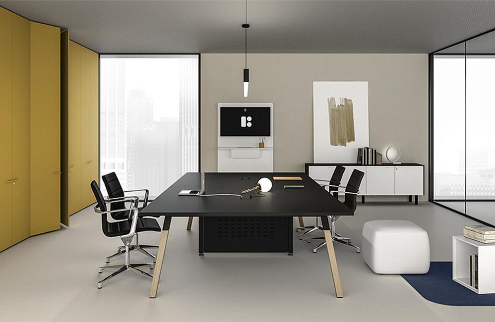 HOLI.E Concept - Aménagement espace de travail - Espace de réunion moderne noir