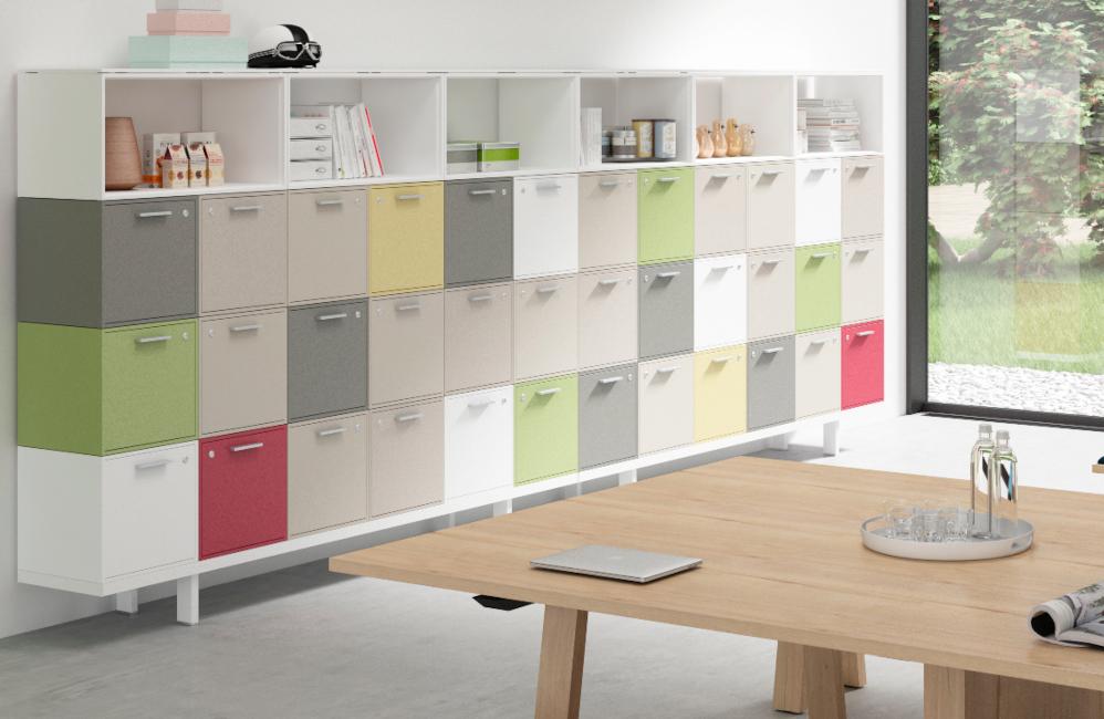 HOLI.E Concept - Aménagement espace de travail - Rangement bois casier individuel