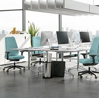 HOLI.E Concept - Aménagement espace de travail - Fauteuil de travail design et ergonomique