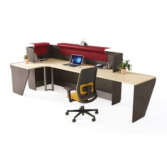 HOLI.E Concept - Aménagement espace de travail - Banque d'accueil personnalisable Atlas