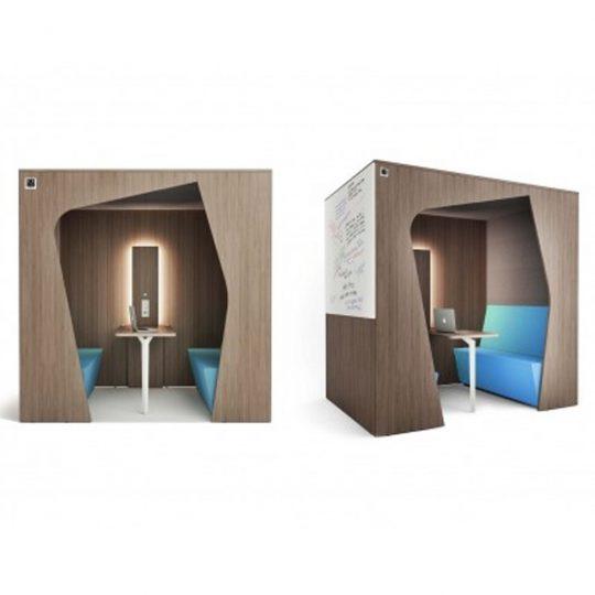 HOLI.E Concept - Aménagement espace de travail - Box acoustique, cabine de réunion KOMUNIKUBE