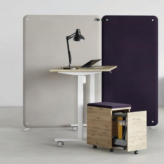 HOLI.E Concept - Aménagement espace de travail - Bureau réglable en hauteur LUTZ