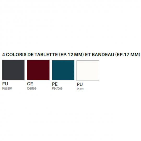 HOLI.E Concept - Aménagement espace de travail - Coloris de tablette