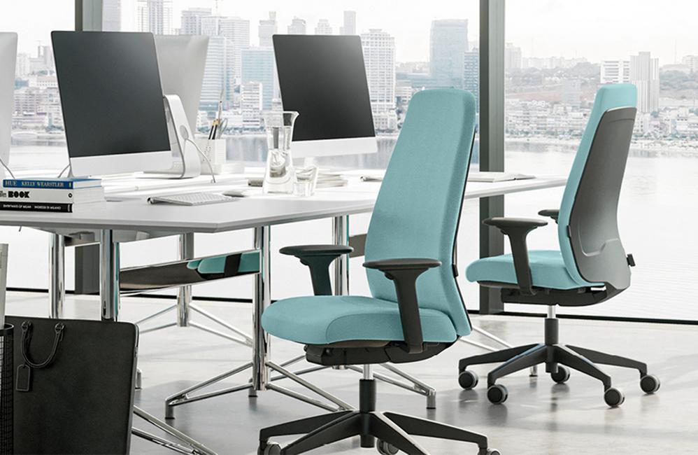 HOLI.E Concept - Aménagement espace de travail - Fauteuil de bureau tissu ergonomique haut de gamme