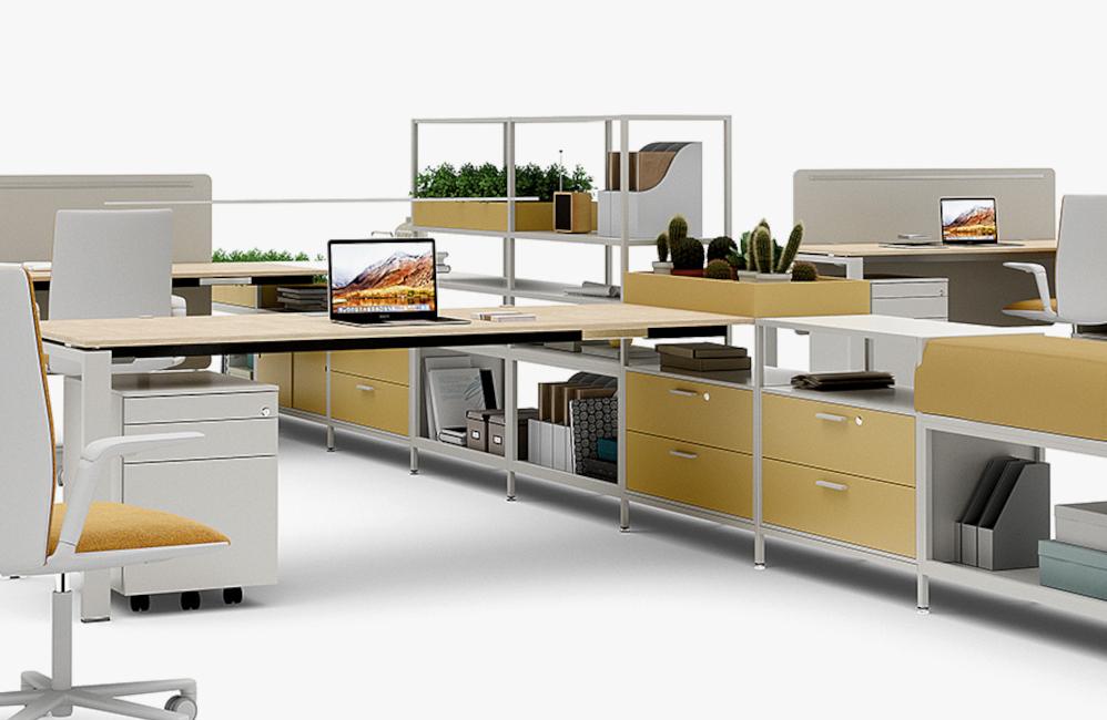 HOLI.E Concept - Aménagement espace de travail - Meuble rangement de proximite bureau