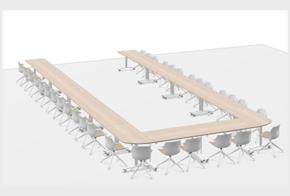 HOLI.E Concept - Aménagement espace de travail - Proposition agencement espace plans 3D