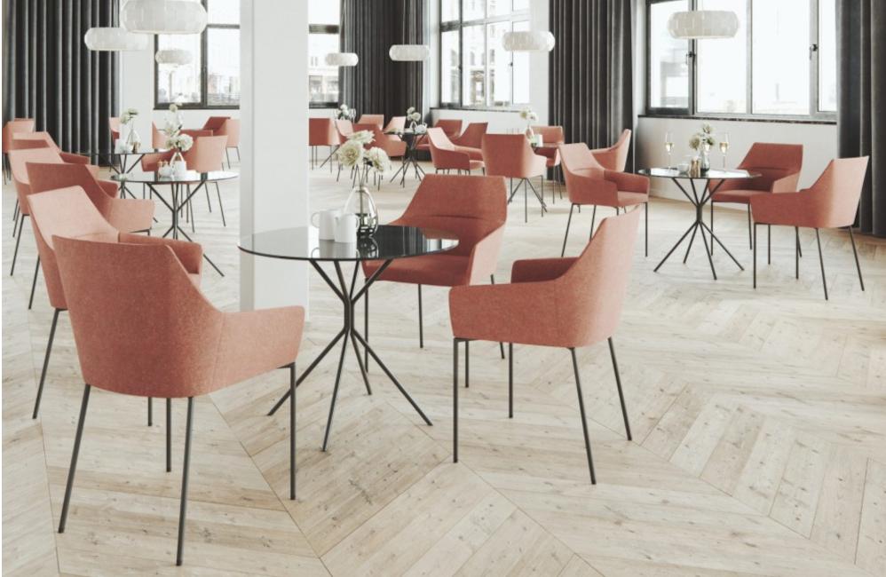 HOLI.E Concept - Aménagement espace de travail - Chaise accueil 4 pieds fauteuil confort