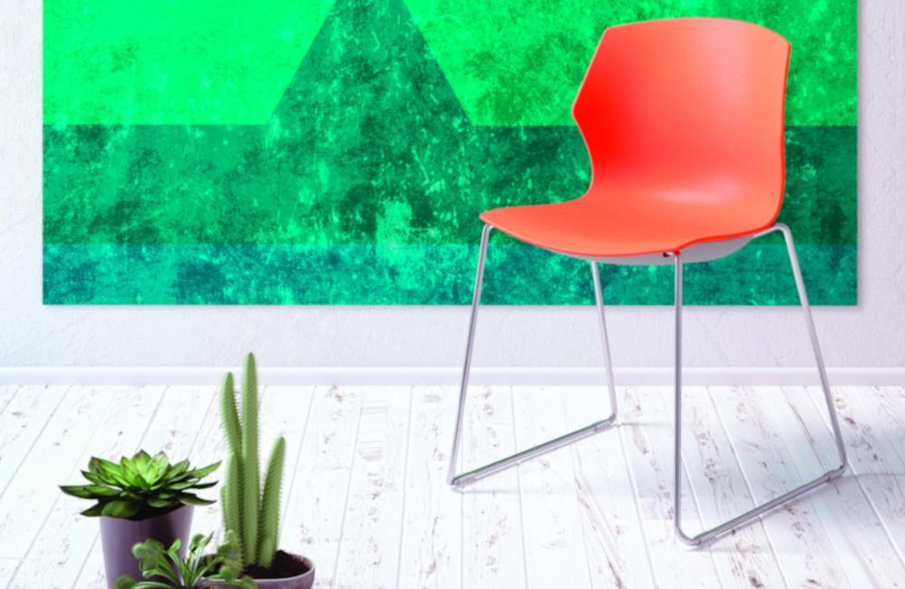 HOLI.E Concept - Aménagement espace de travail - Chaise myfrill pas cher accueil réunion ,plastique