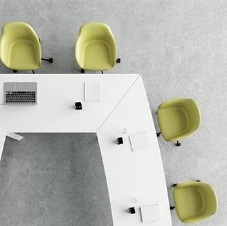 HOLI.E Concept - Aménagement espace de travail - Table de réunion coopérative bois