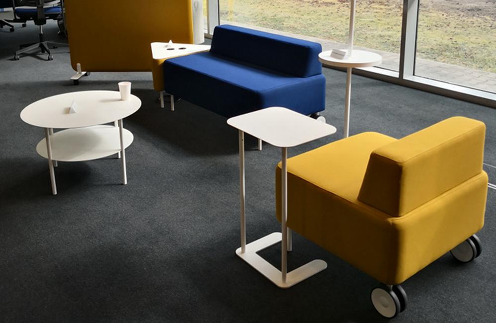 HOLI.E Concept - Aménagement espace de travail - Banquette modulable zelie eol