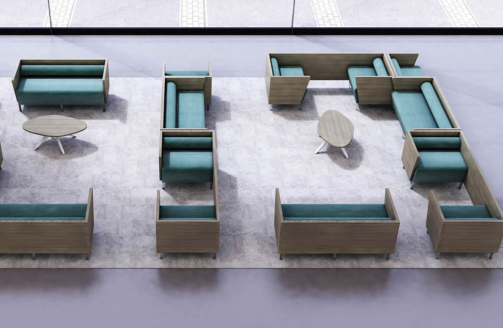 HOLI.E Concept - Aménagement espace de travail - Banquette modulable harmony