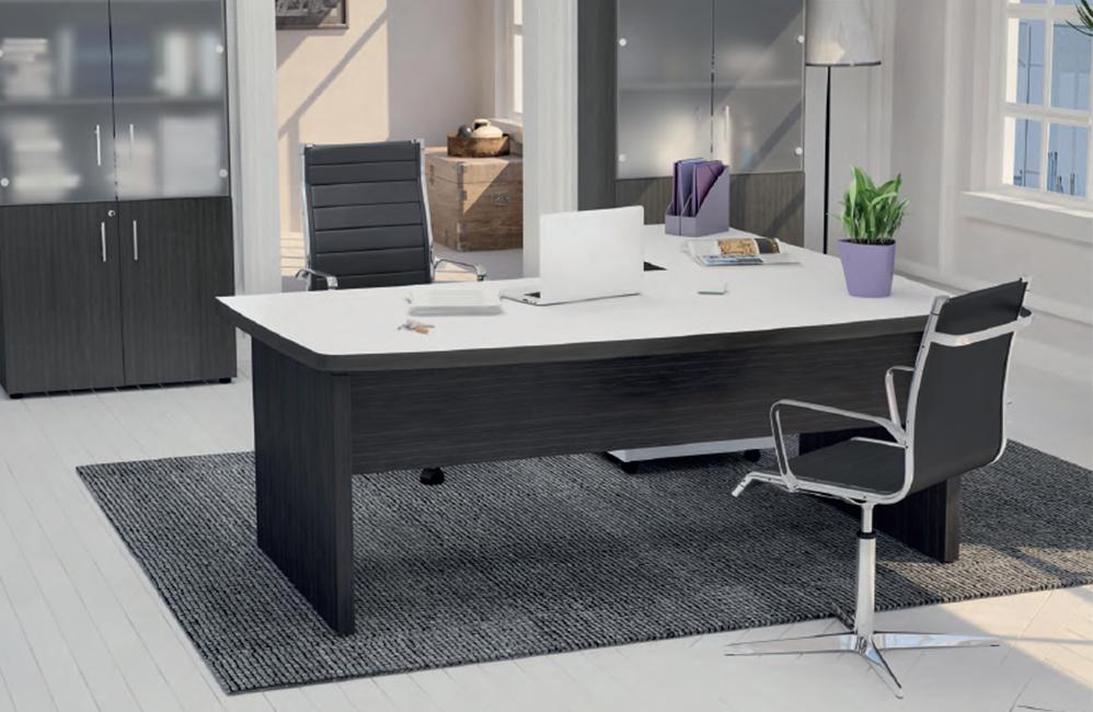 HOLI.E Concept - Aménagement espace de travail - Bureau de direction blanc et noir