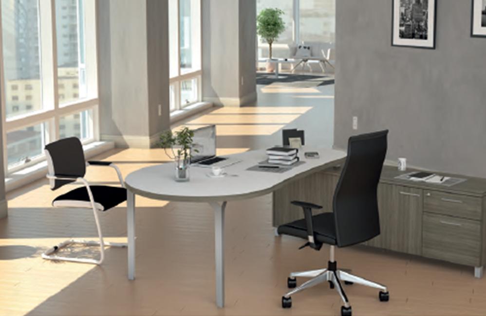 HOLI.E Concept - Aménagement espace de travail - Bureau de direction bois et noir