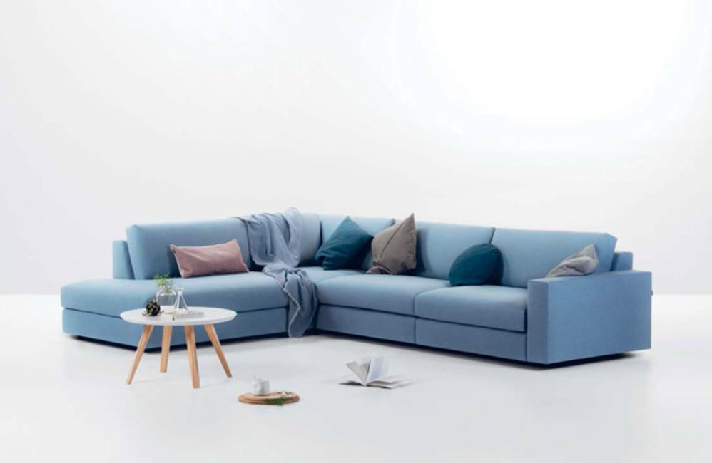 HOLI.E Concept - Aménagement espace de travail - Canapé bleu prostoria