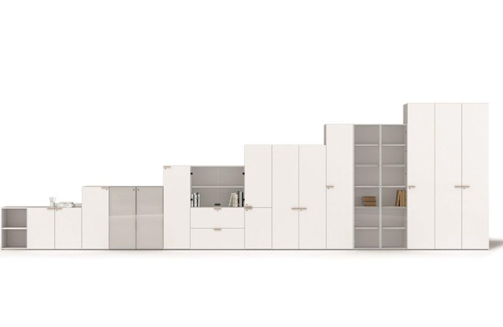 HOLI.E Concept - Aménagement espace de travail - Armoires portes tiroirs rangement bureau