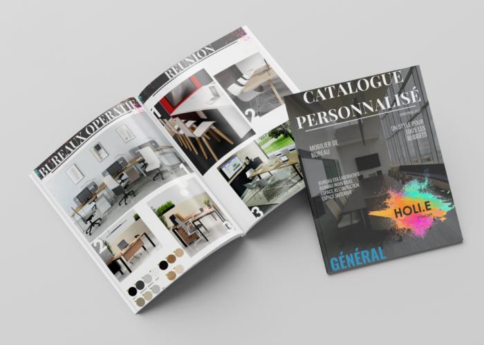 HOLI.E Concept - Aménagement espace de travail - Mockup catalogue personnalisé