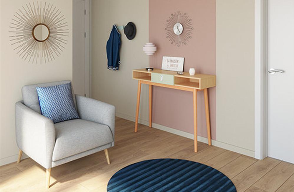 HOLI.E Concept - Aménagement espace de travail - Fauteuil d'accueil Zoé