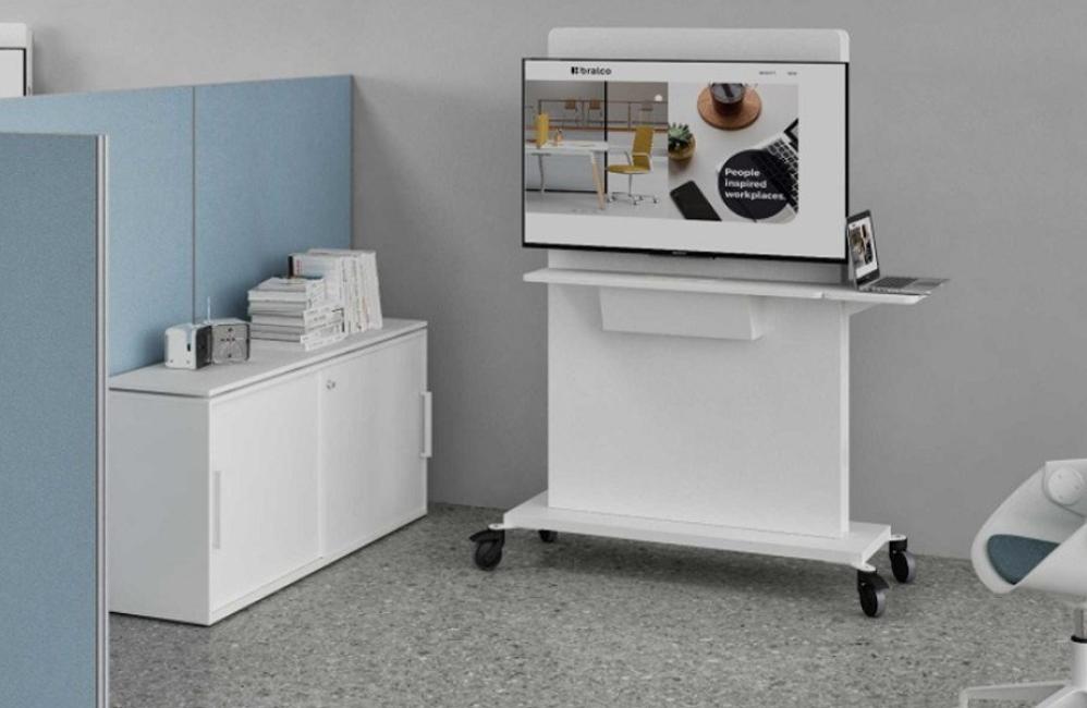 HOLI.E Concept - Aménagement espace de travail - Support à roulette tableau de présentation