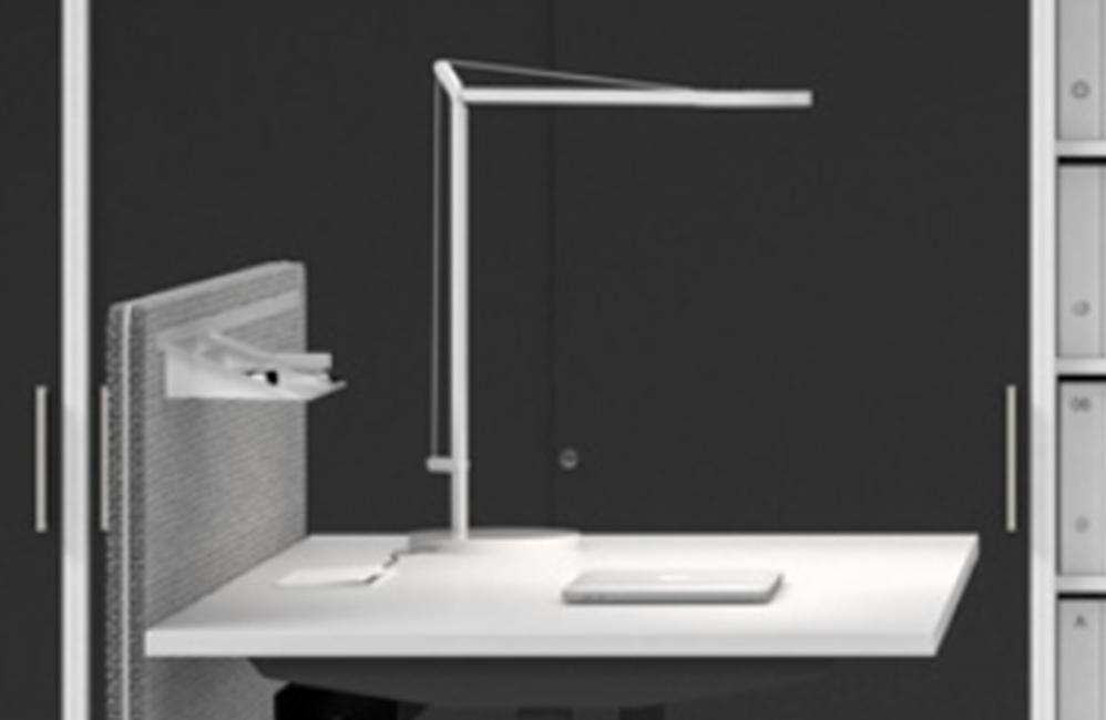 HOLI.E Concept - Aménagement espace de travail - Lampe 90 degres
