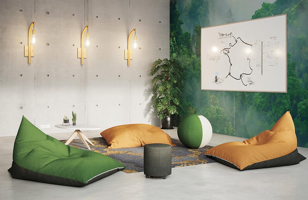 HOLI.E Concept - Aménagement espace de travail - Coin détente harmony