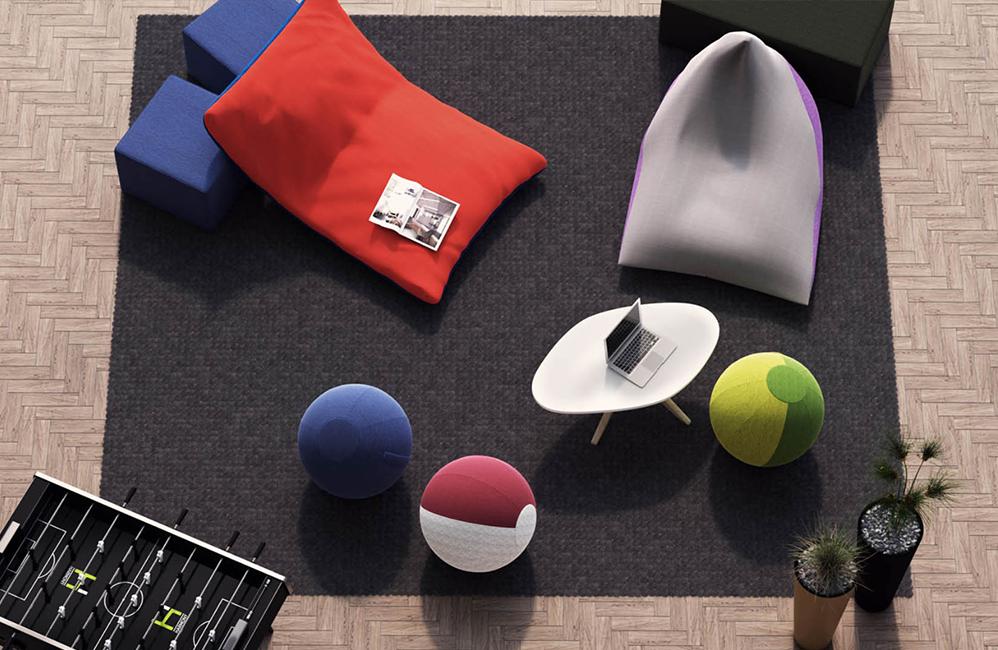 HOLI.E Concept - Aménagement espace de travail - Assise confortable Harmony