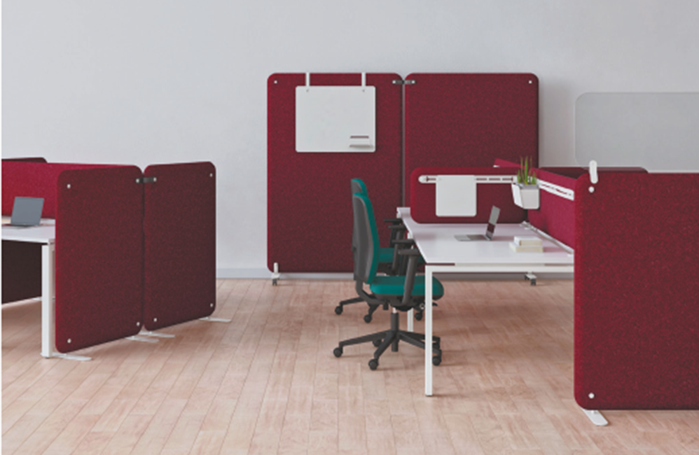 HOLI.E Concept - Aménagement espace de travail - Bureau openspace collaboratif séparation bruit