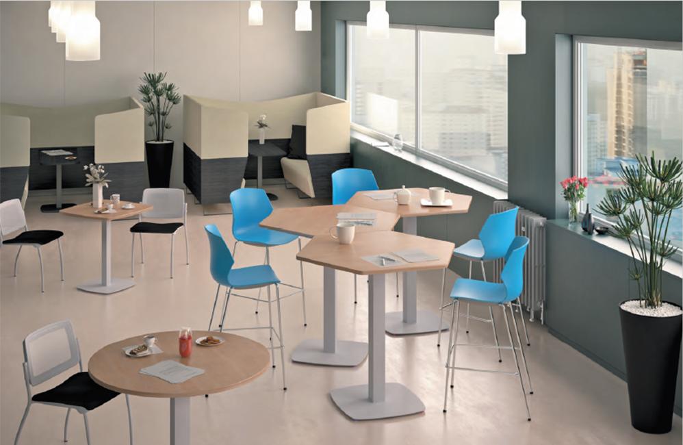 HOLI.E Concept - Aménagement espace de travail - Table haute en bois